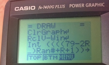 BASIC on my graphics calculator